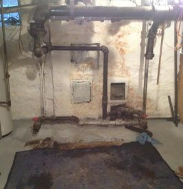 After boiler tear out